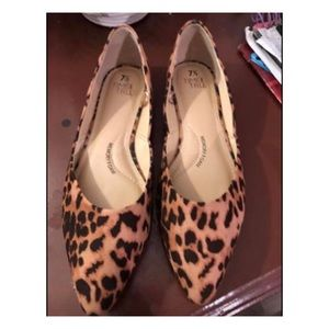 Shoes - Leopard print flats 7.5 like new